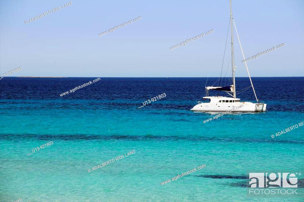 Stock Photo: Boat, Formentera, Balearic Islands, Spain.