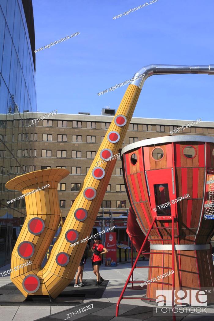 Stock Photo: Canada, Quebec, Montreal, Jazz Festival.