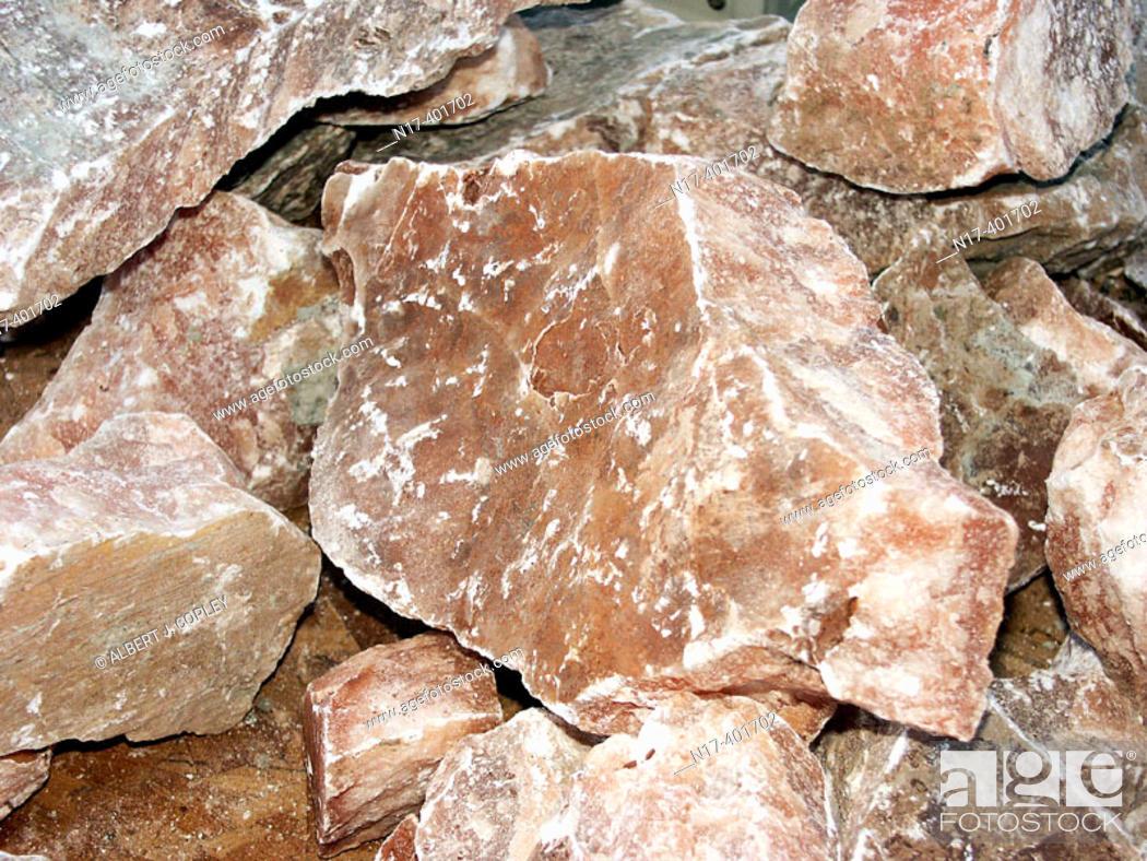 Stock Photo: Gypsum var. Alabaster.