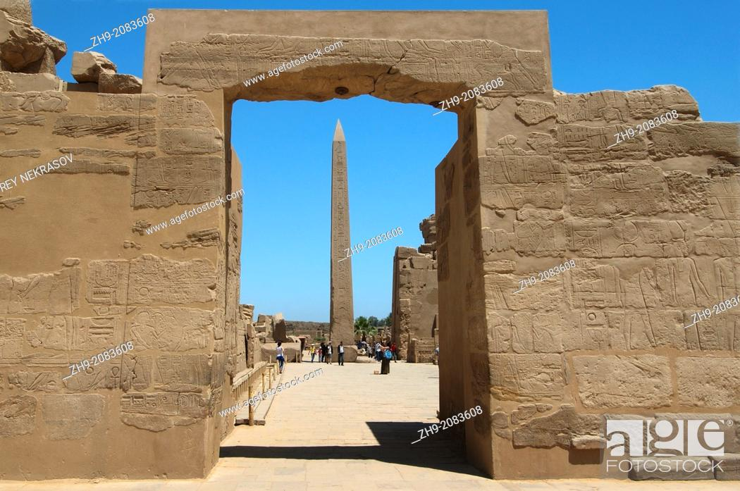 Stock Photo: Karnak Temple Complex, Luxor (Thebes), Egypt, Africa.