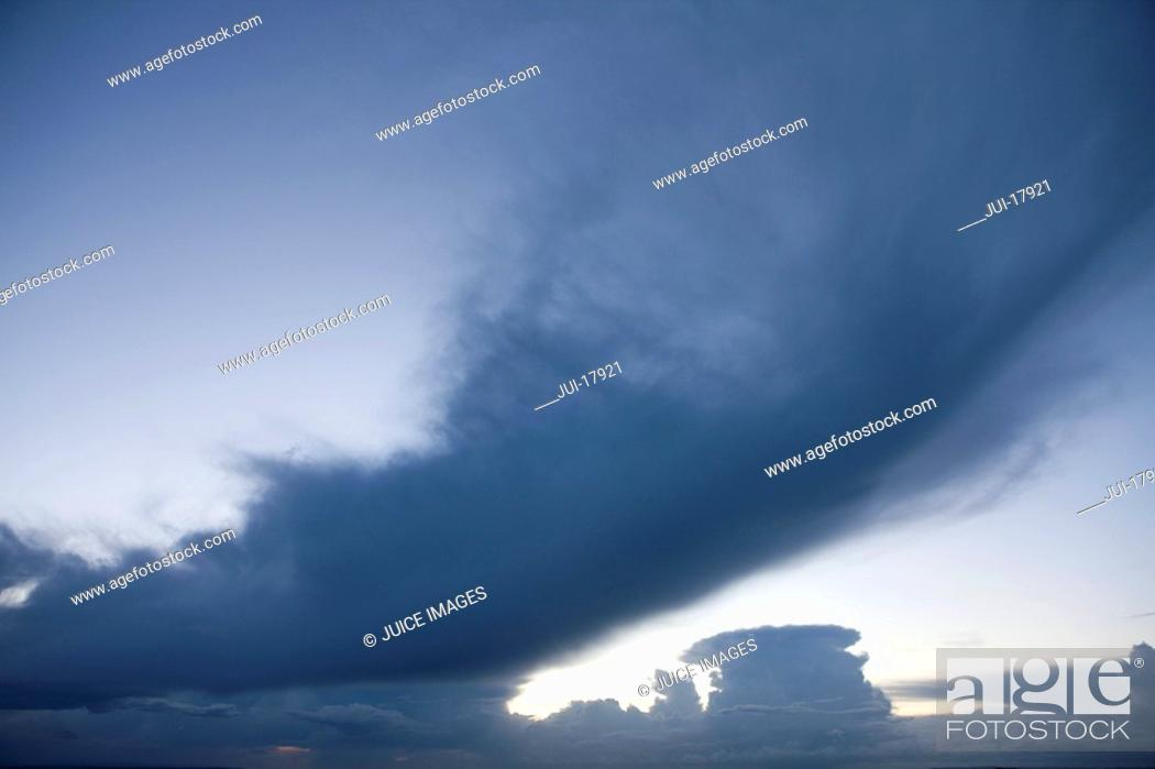 Stock Photo: Clouds in stormy sky.