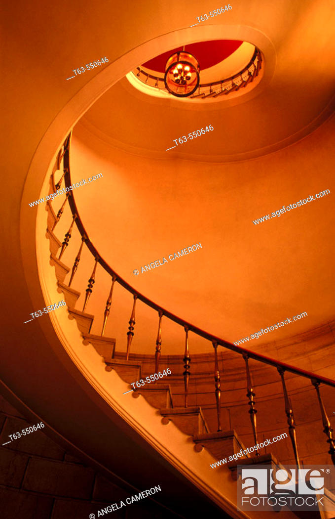 Stock Photo: Curved stairway.