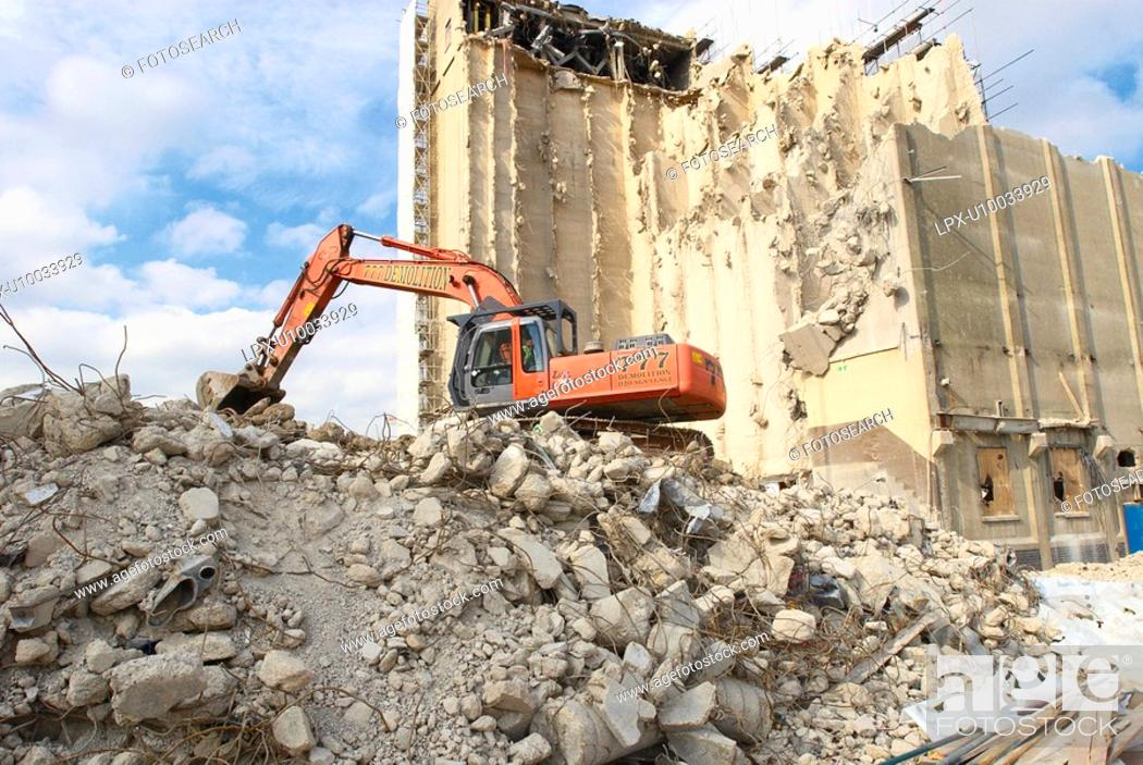 Stock Photo: Factory under demolition for a new property development.