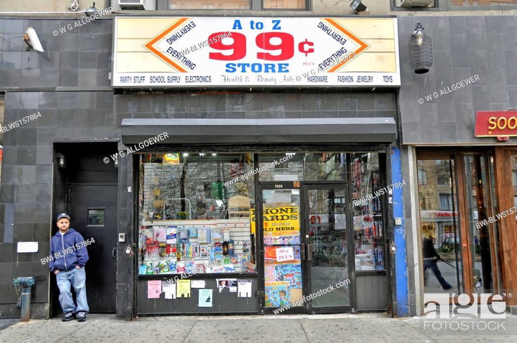 99 Cent Store Bargaine USA New York City Manhattan Stock