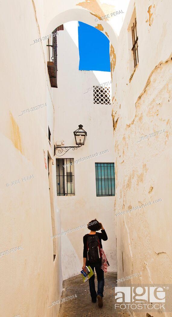 Imagen: Street, Arcos de La Frontera, White Towns, Pueblos Blancos, Cadiz province, Andalusia, Spain.