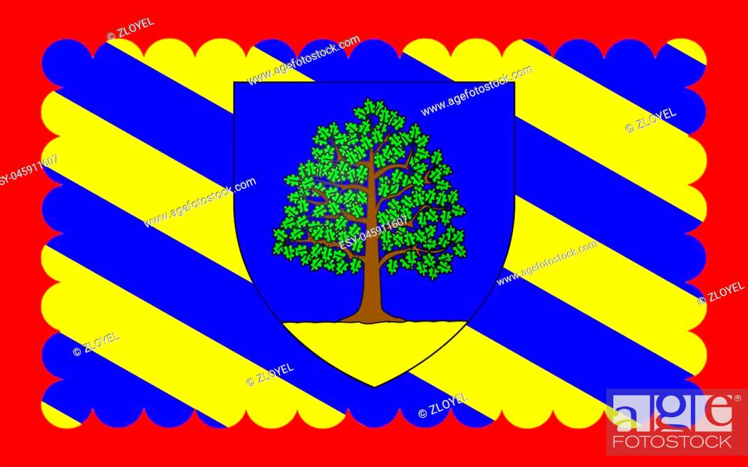 Stock Photo: Flag of Chateau-Chinon is a commune in the Nievre department in France. It is a sub-prefecture of the department.