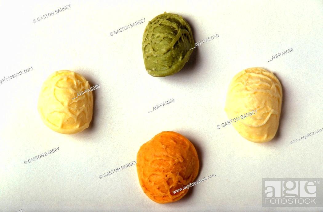 Stock Photo: Pasta - Orecchiette Tricolores.