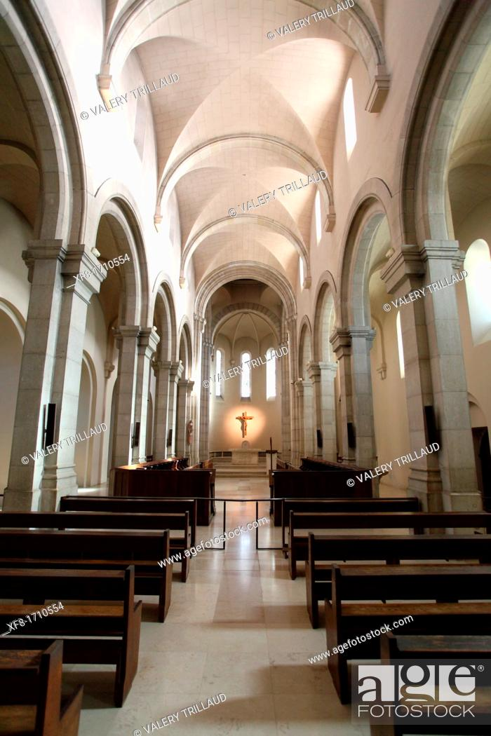 Stock Photo: The monastery of the Saint Honorat island near Cannes, Alpes-Maritimes, French riviera, Provence-Alpes-Côte d'Azur, France.