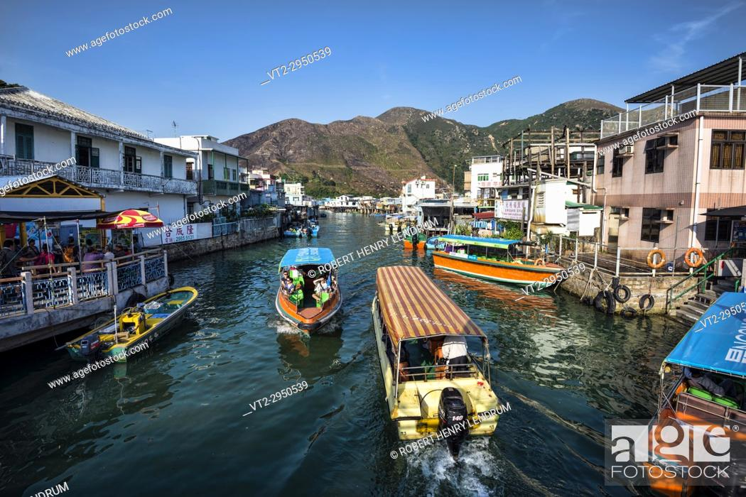 Stock Photo: Tai O fishing village, Hong Kong, China.