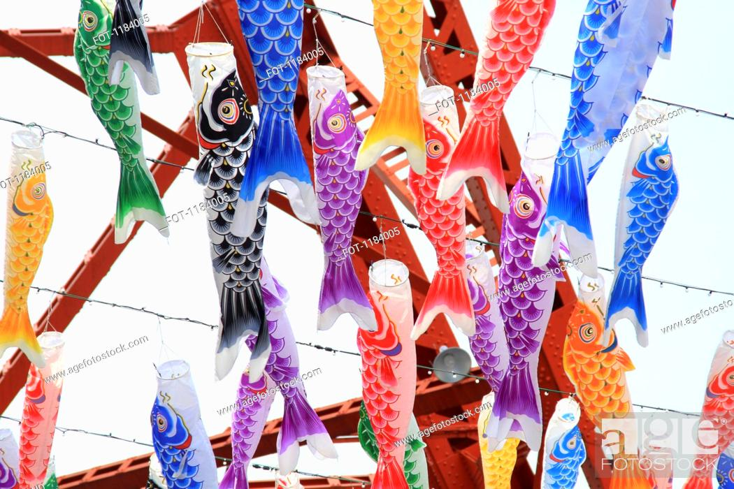Stock Photo: Fish style paper lanterns.