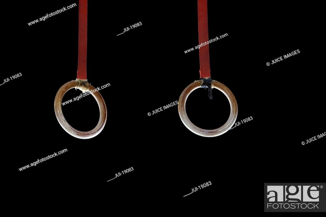 Stock Photo: Gymnastic rings.