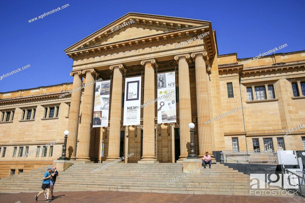 Stock Photo: State library of NSW in macquarie street Sydney.