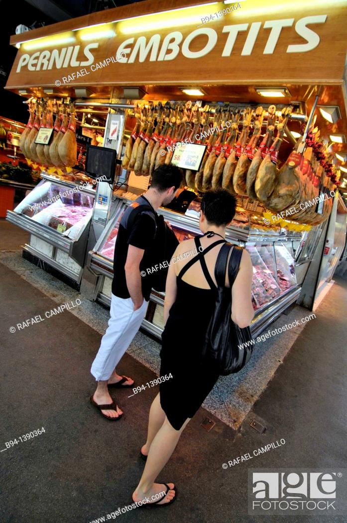 Stock Photo: Sant Josep market (aka La Boqueria), Barcelona, Catalonia, Spain.