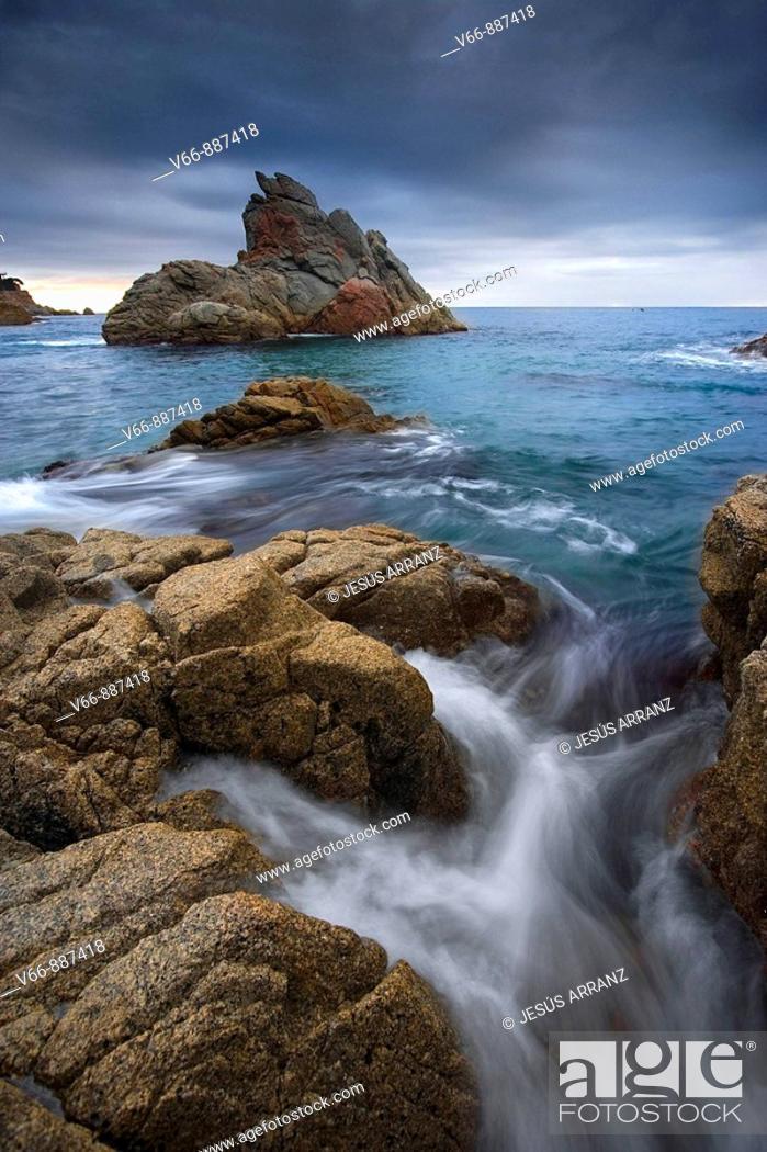 Stock Photo: Cala des Frares in Lloret de Mar, Girona.