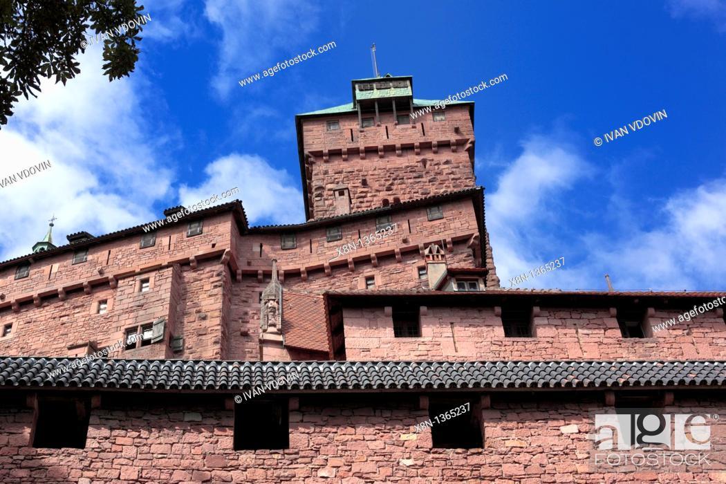Stock Photo: Haut-Koenigsbourg castle, Orschwiller, Alsace, France.