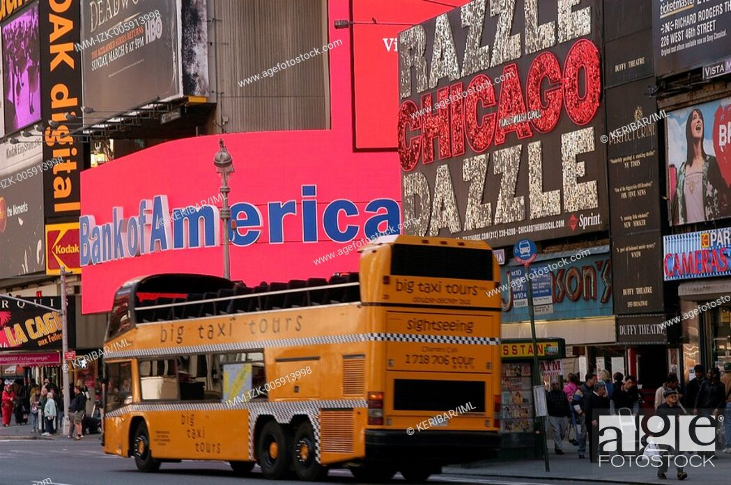 Stock Photo: Broadway 7, bus for tour  , New York City, United States, America.