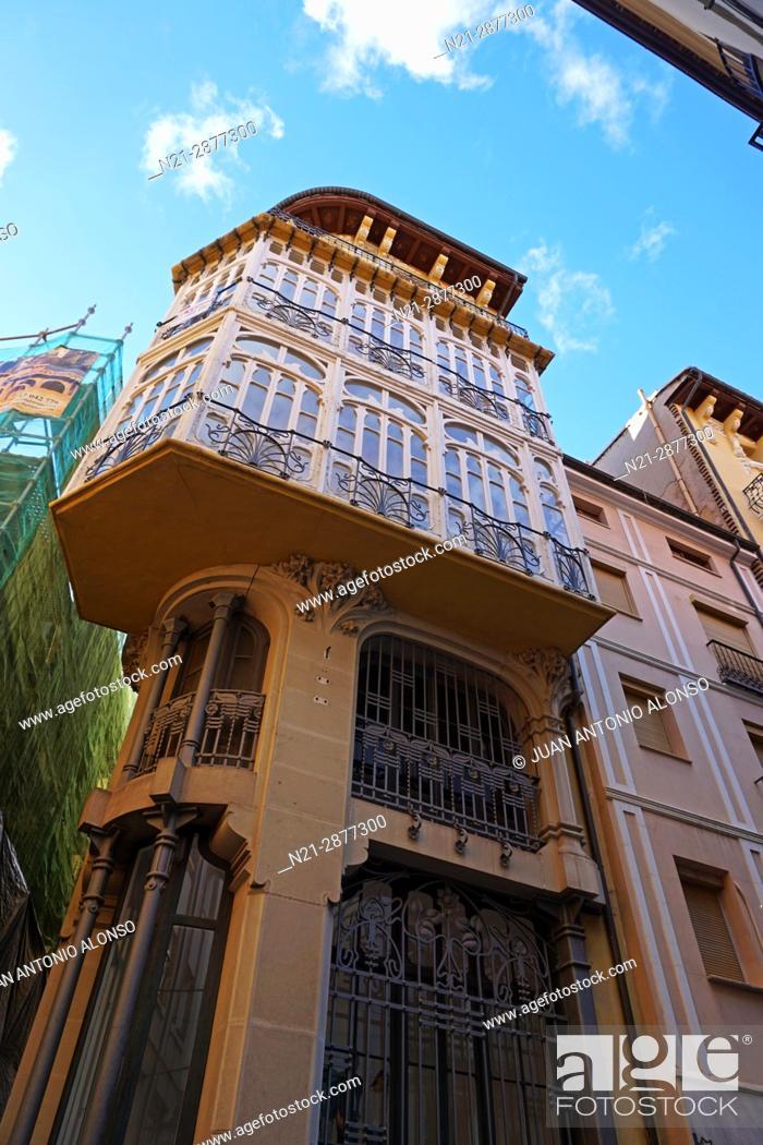 Stock Photo: Pablo Monguio's Casa Ferran. Teruel, Aragón, Spain, Europe.