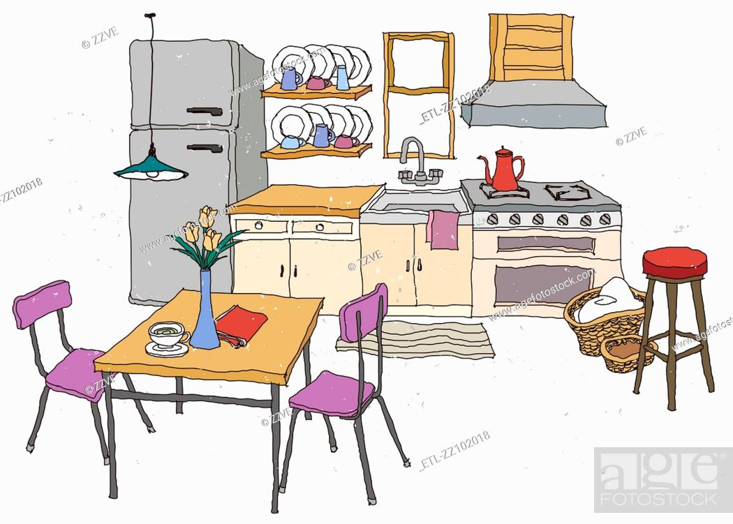 Stock Photo: Kitchen Interior.