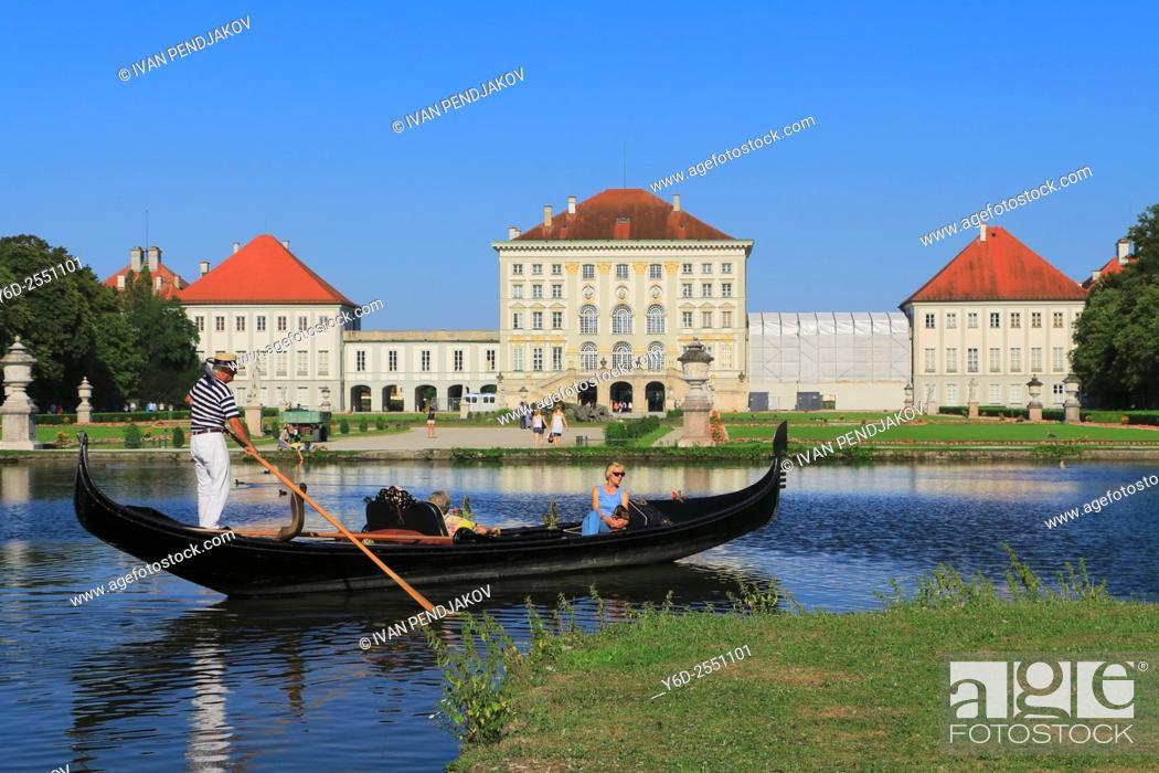 Stock Photo: Nymphenburg Palace, Munich, Germany.