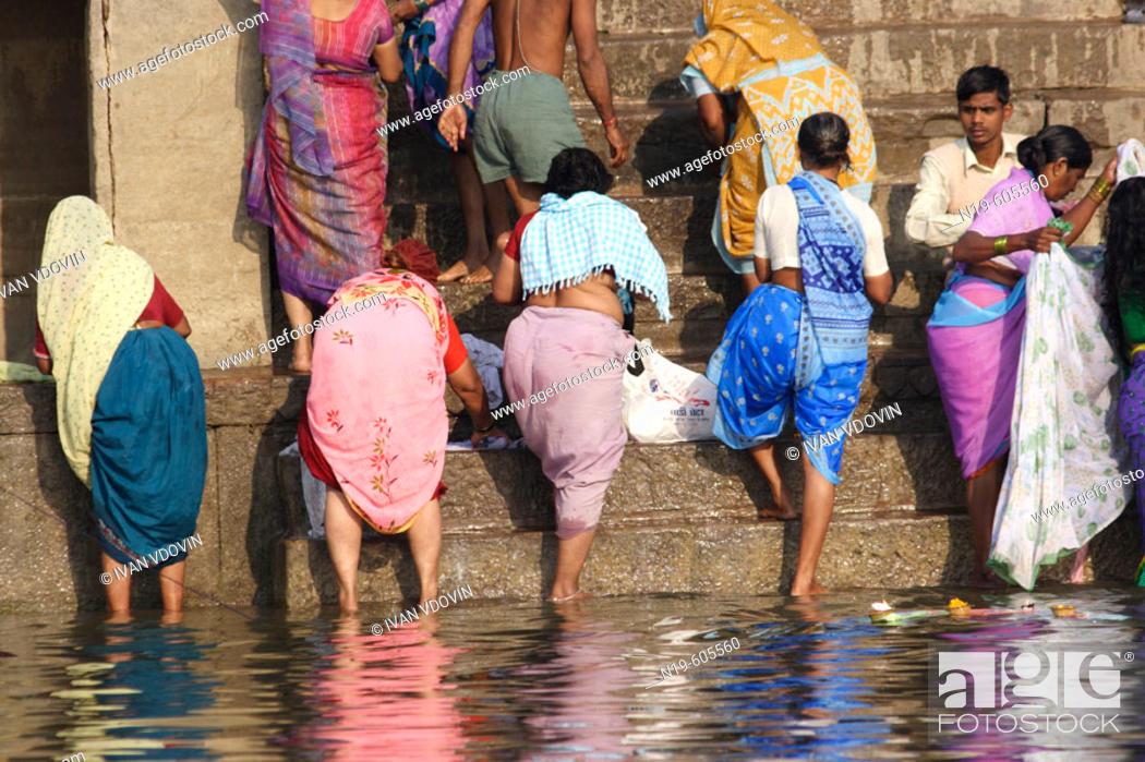 Stock Photo: Varanasi (Benares, Benaras, Banaras), Hindu holy city on Ganges (Ganga), state Uttar Pradesh, India.