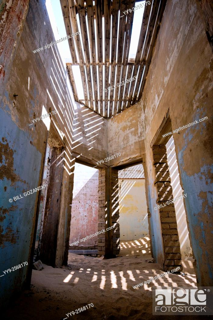 Stock Photo: Doorways in Kolmanskop Ghost Town - Luderitz, Namibia, Africa.