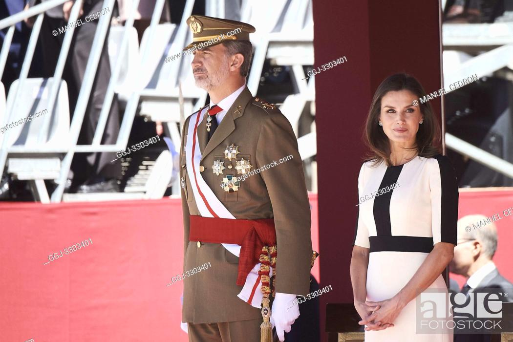 Stock Photo: King Felipe VI of Spain, Queen Letizia of Spain attends 175th anniversary of the founding of the Guardia Civil at Royal Palace on May 13, 2019 in Madrid, Spain.