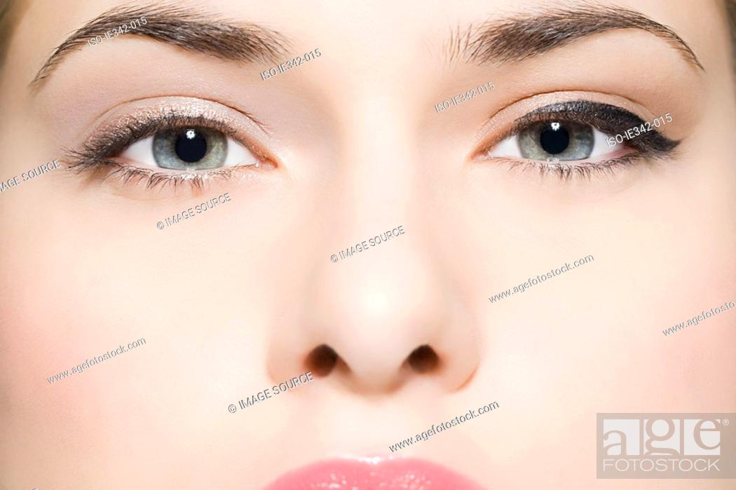 Stock Photo: Eyes of a young woman.