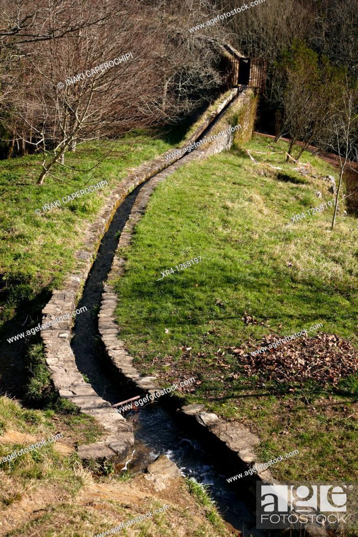 Stock Photo: Foundry of Agorregi, Pagoeta Natural Park, Aya Aia, Guipuzcoa Gipuzkoa Basque Country Euskadi, España Spain.