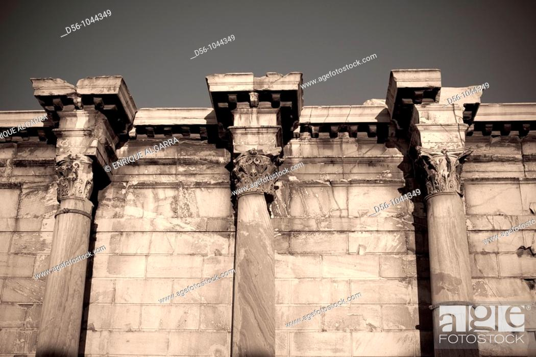 Stock Photo: Hadrian's Library in Ancient Agora of Athens. Greece.
