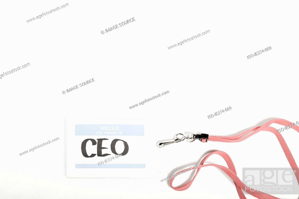 Stock Photo: CEO name tag.
