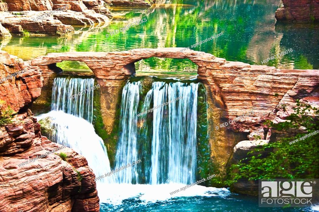 Stock Photo: River flowing through rocks, Mt Yuntai, Jiaozuo, Henan Province, China.