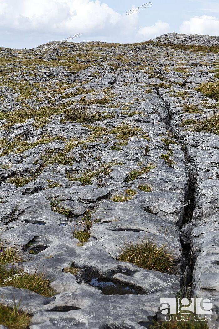 Stock Photo: Fanore cliffs, Burren region, Ireland, Europe.