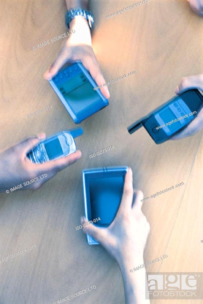 Stock Photo: Mobile technology.