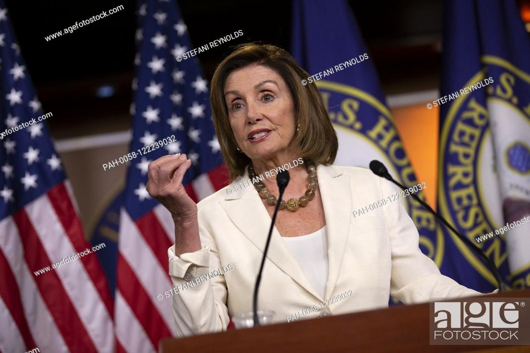 Stock Photo: Speaker of the United States House of Representatives Nancy Pelosi (Democrat of California) holds her weekly press conference on Capitol Hill in Washington D.