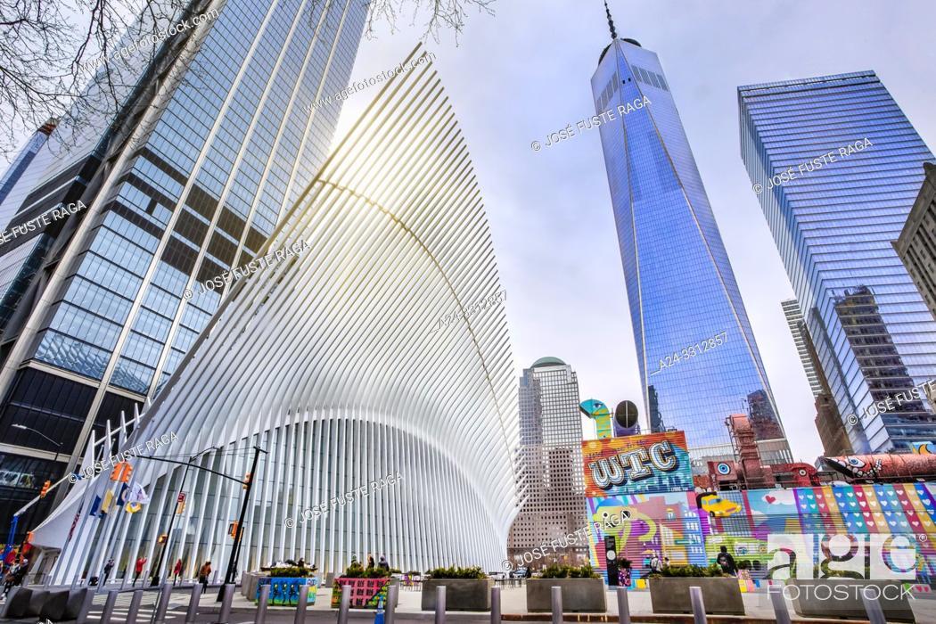 Imagen: USA, New York City, Manhattan, Downtown, World Trade Center Station.