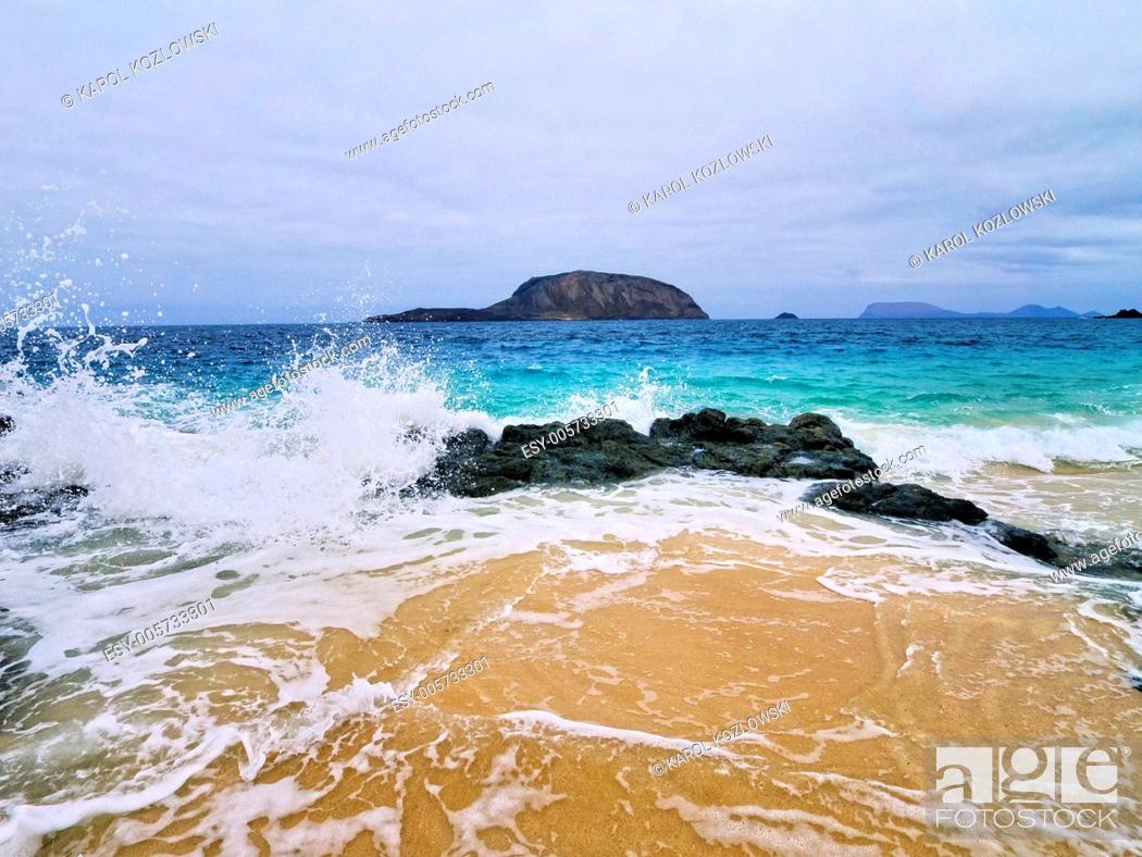 Stock Photo: Graciosa Island - small island near Lanzarote Canary Islands, Spain.