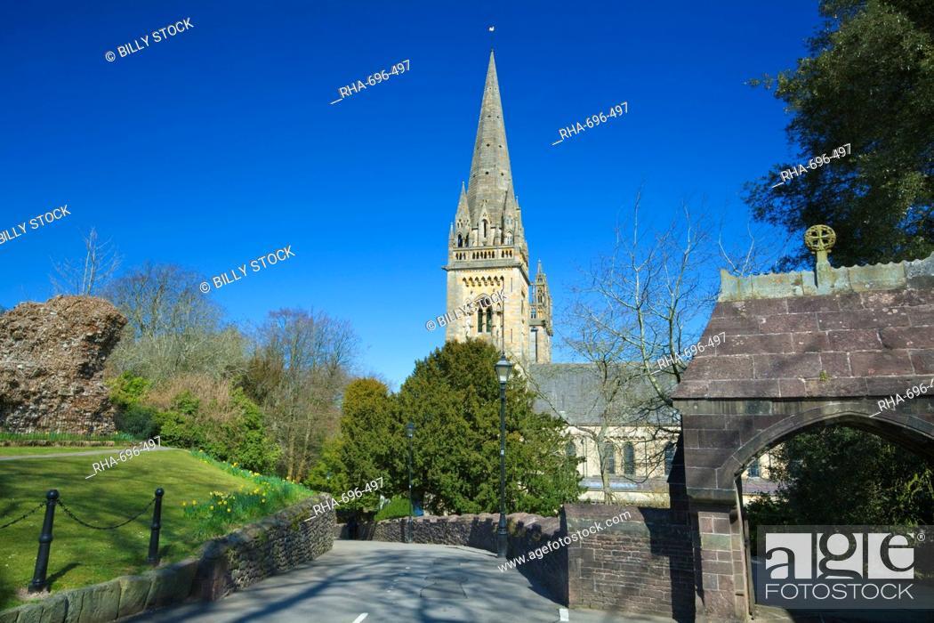Stock Photo: Llandaff Cathedral, Llandaff, Cardiff, Wales, United Kingdom, Europe.