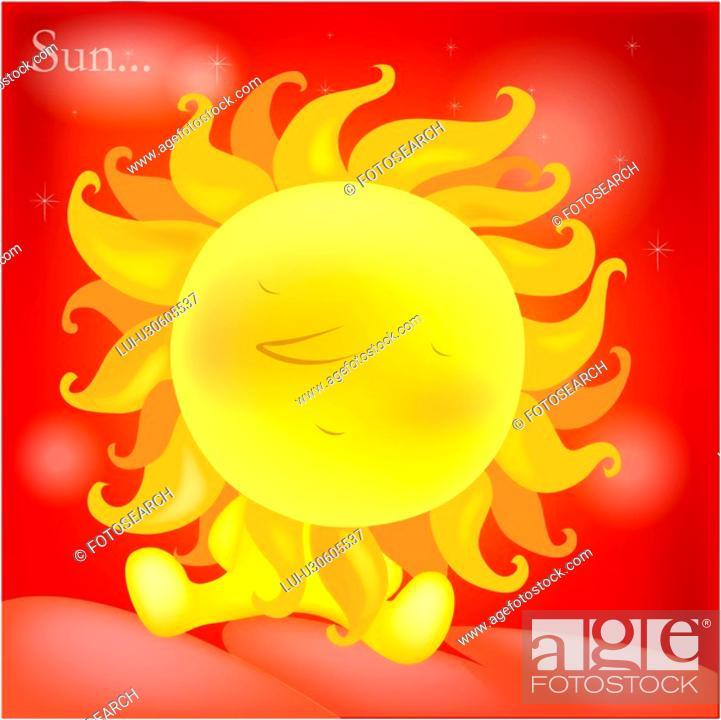 Stock Photo: sunny, natural phenomenon, weather, nature, sun, forecast.