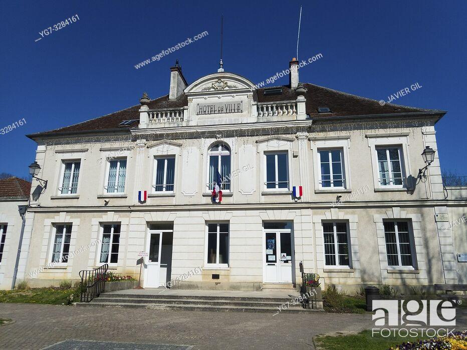 Stock Photo: City hall of Crecy la Chapelle, Seine-et-Marne, Ile-de-France, France.