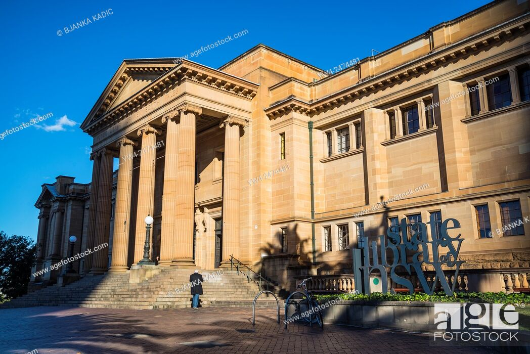 Stock Photo: State Library of New South Wales, Sydney, Australia.