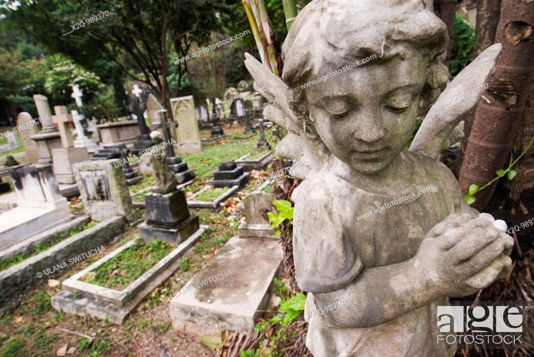 Stock Photo: Happy Valley Cemetery Hong Kong.
