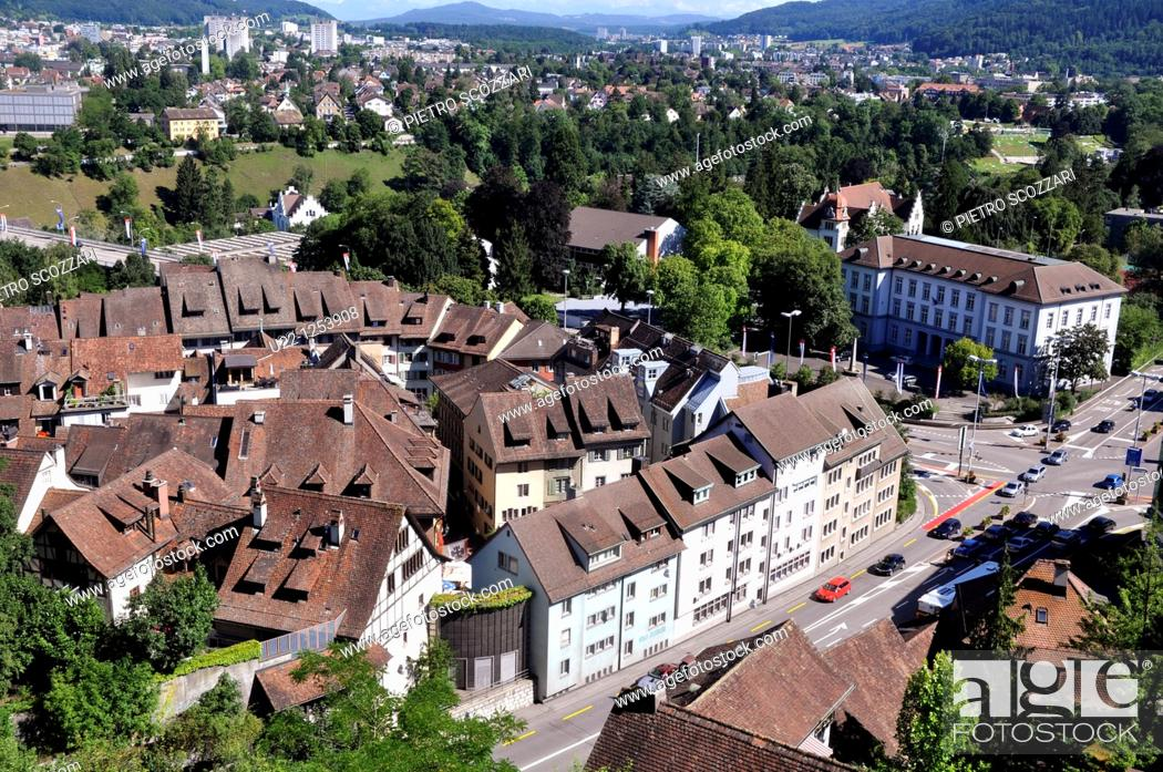 Stock Photo: Baden (Argovia, Switzerland): view of the city.