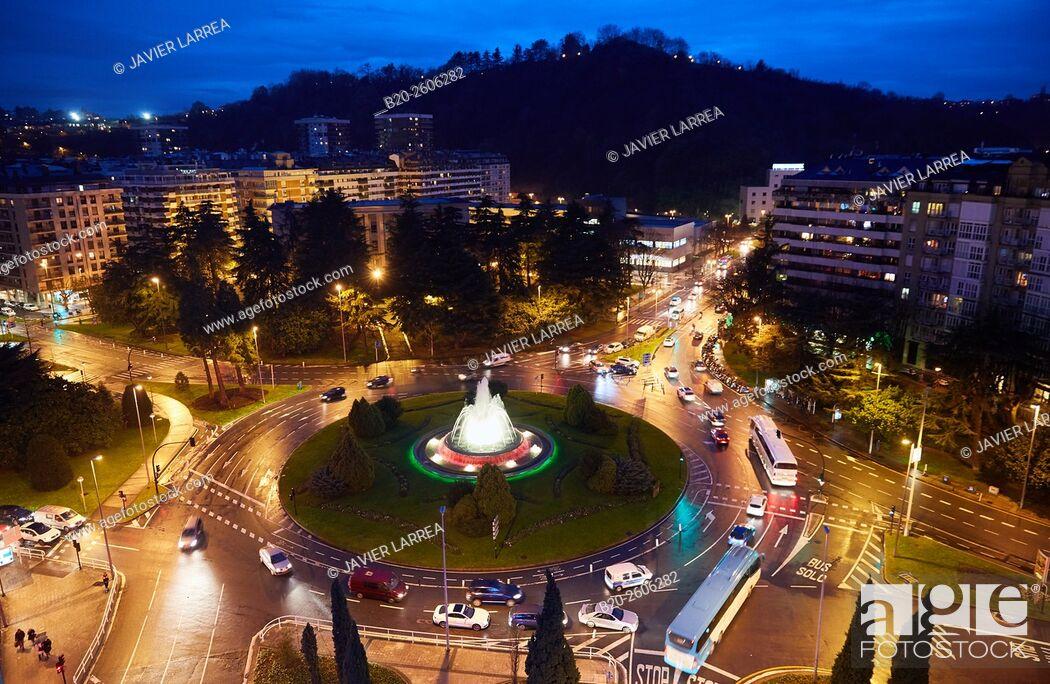 Stock Photo: Plaza de Pio XII square, Donostia, San Sebastian, Basque Country, Spain.
