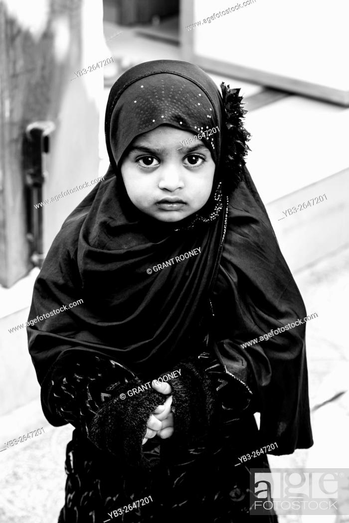 Stock Photo: A Young Omani Girl Wearing A Hijab, Muttrah Souk (Al Dhalam), Muscat, Sultanate Of Oman.