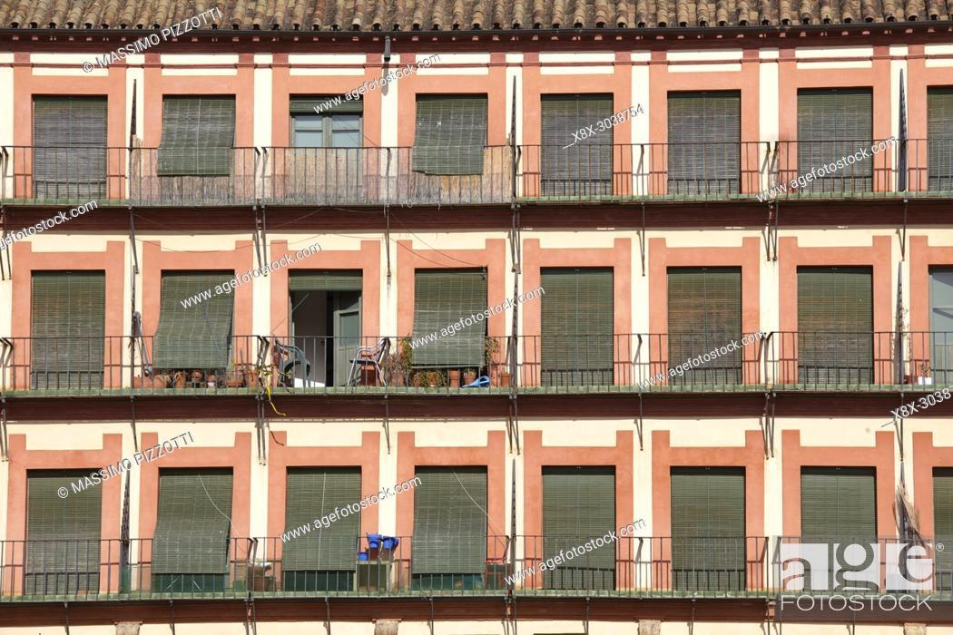 Photo de stock: Detail of the buildings in the Corredera square, Cordoba, Spain.