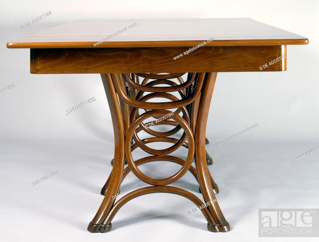 Stock Photo   Thonet Bentwood Table, Ca 1880. Austria, 19th Century.  Private Collection