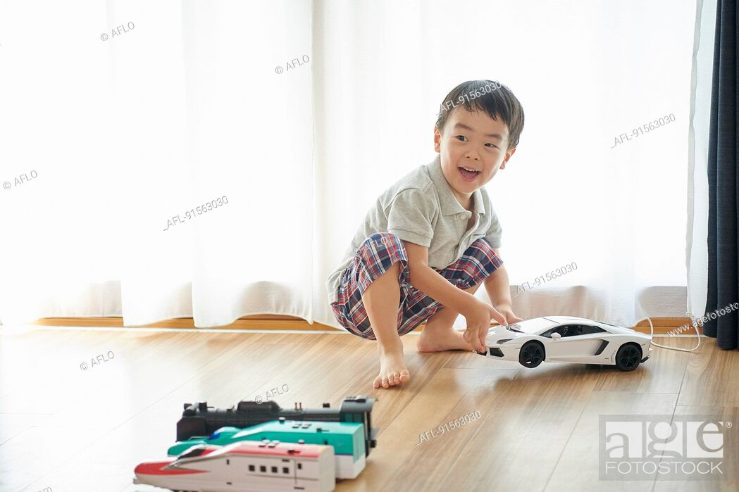Stock Photo: Japanese kid at home.