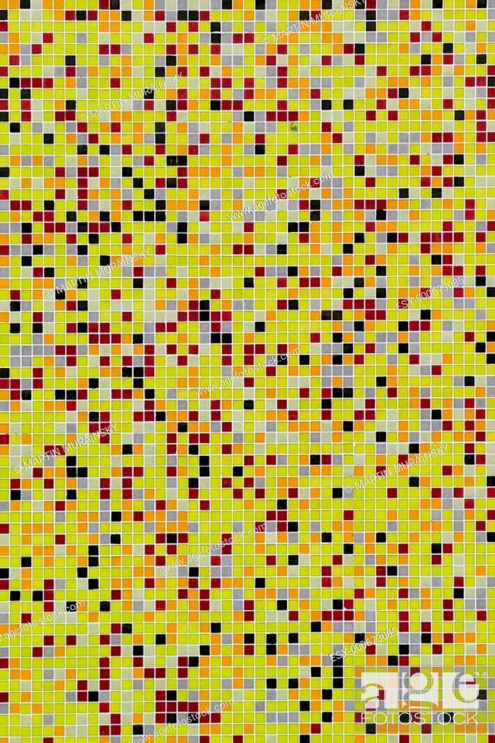 Stock Photo: mosaic wall.