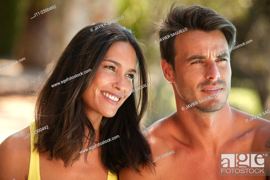 Stock Photo: Couple portrait.