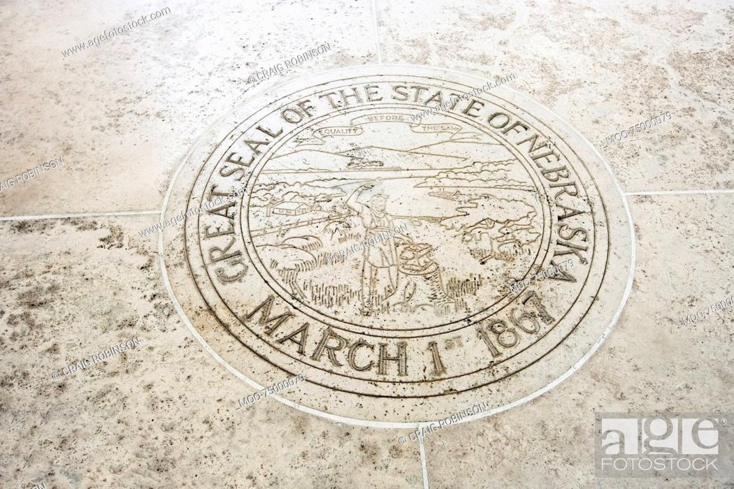 Stock Photo: Seal of Nebraska in Fort Bonifacio, Manila, Philippines.